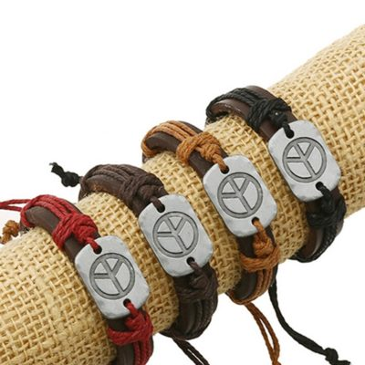 Handmade PU Leather Bracelet Harmony Tribal Bohemian LB-025