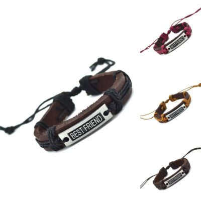Handmade PU Leather Bracelet Best Friend Tribal Bohemian LB-030