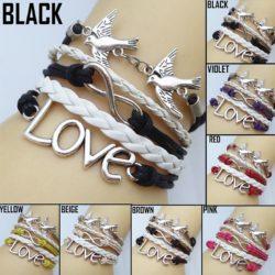 Love Bird Leather Bracelet